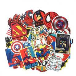 marvel super man stickers