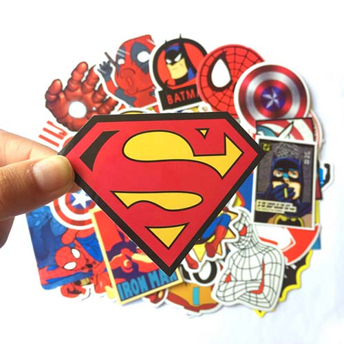 suprehero stickers marvel decals