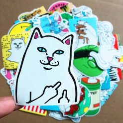 Middle Finger Ripndip Skateboard Sticker
