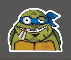 Funny Ninja Turtle Smoking Car Skateboard Laptop Luggage Stickers