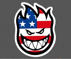 USA Flag Spitfire Skate Skateboard Stickers Vinyl Graffiti Decals