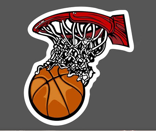 Basketball Graffiti Skateboard Stickers Car Laptop Luggage Vinyl Decals