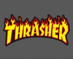 thrasher skateboard brand logo stickers wholesale