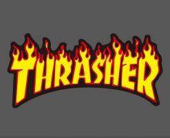 thrasher skateboard brand logo stickers wholesale