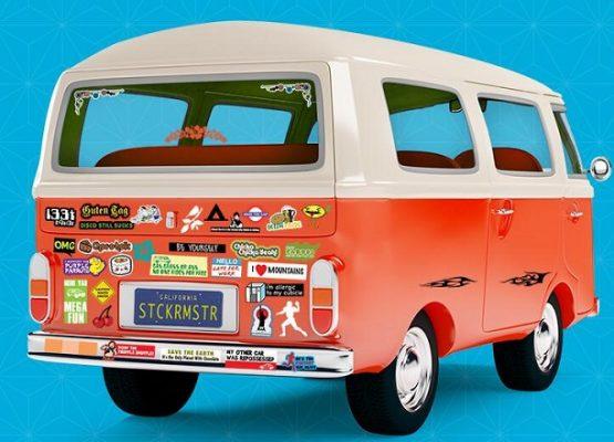 bumper car stickers