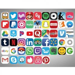 social app icons stickers