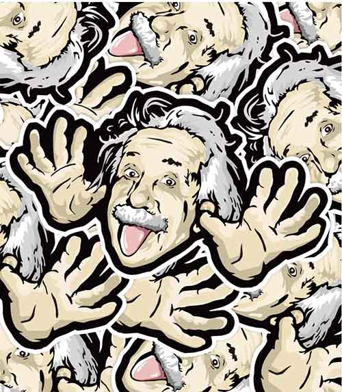 Funny Albert Einstein Sticker