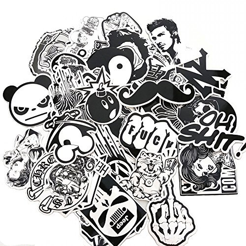 white black stickers