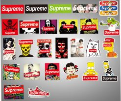 25-SUPREME-skateboard -decalSTICKERS