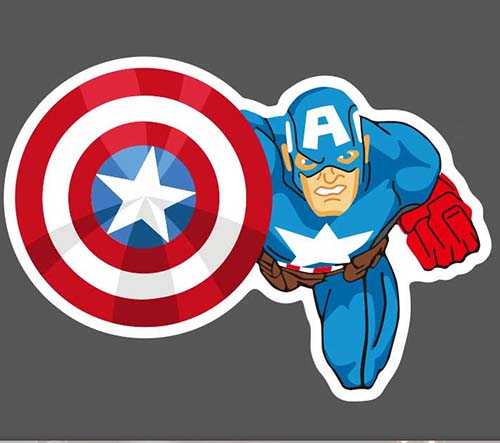 Captain America Luggage Stickers