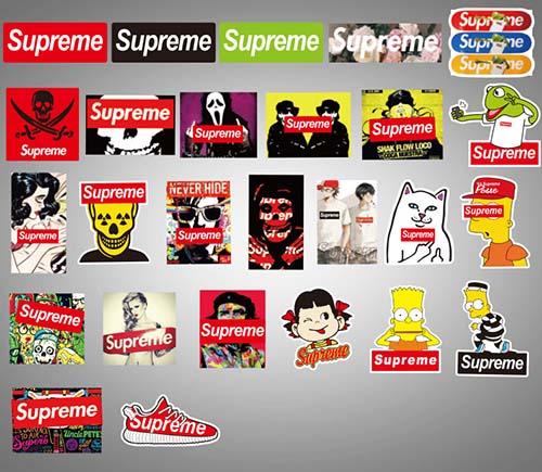 supreme skateboard laptop stickers (6)