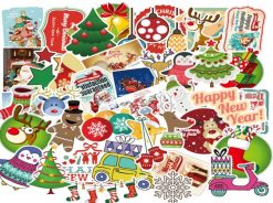 christmas gift 2018 sticker luggage skateboard decals