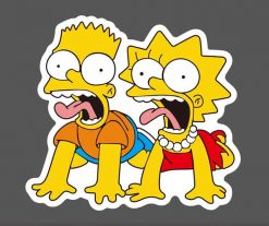 The Simpson Skateboard Sticker