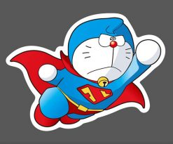 Doraemon Superman Superhero Stickers