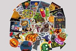 Happy Halloween luggage skateboard stickers for kids