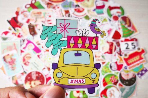 christmas sticker xmas gift 2018
