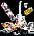 glossy vinyl graffit car trunck stickers