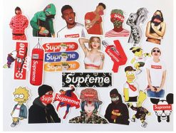 50 pieces supreme Sup stickers pack decals skateboard stickers
