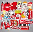 supreme collection sticker pack 50pcs best price
