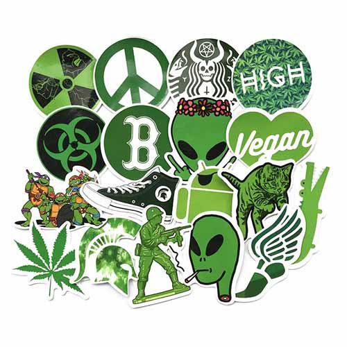 20pcs/lot green style stickers pack