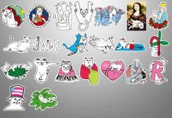 fashion ripndip vinyl skateboard stickers