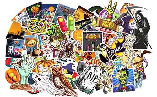 100pcs Halloween Stickers Treat or treat Party decoration