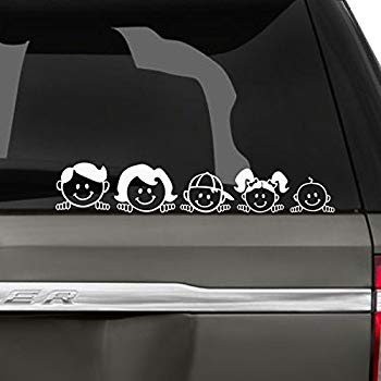 car vinyl stickers family on board