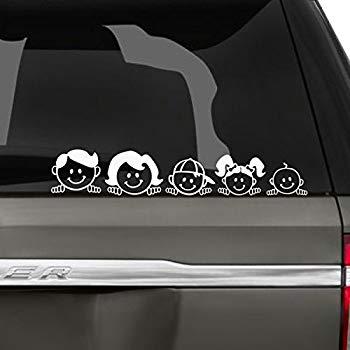 car vinyl stickers family on board