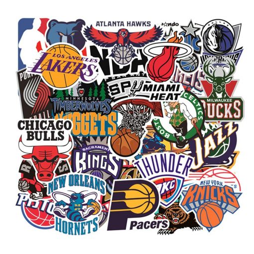BASKETBALL NBA TEAM STICKERS