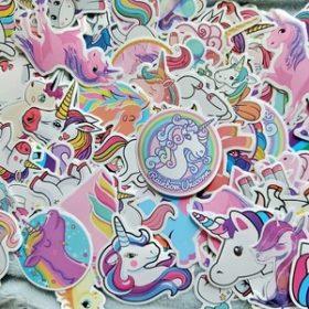 50pcs/pack Cute Unicorn Stickers