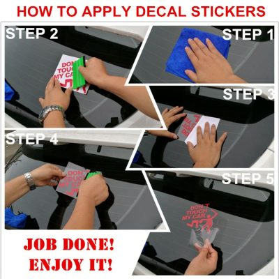 how to apply a car stickers