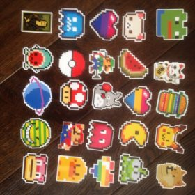 25pcs Pixel Pokemon Stickers