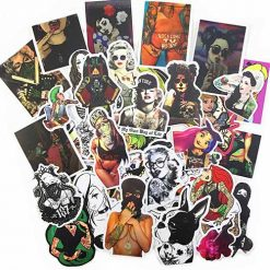 hot sexy tattooed girl stickers