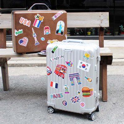 trunk stickers luggage suitcase sticker decals