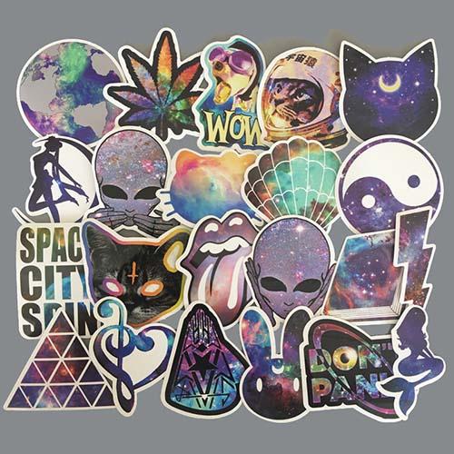 galaxy alien space cat sailor moon diamond cat pepe stickers