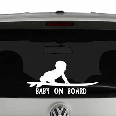 car vinyl stickers baby on board