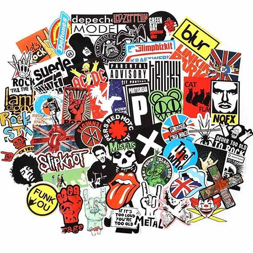 rock and roll music band beatles stickers pack