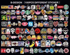 100pcs laptop luggage skateboard stickers