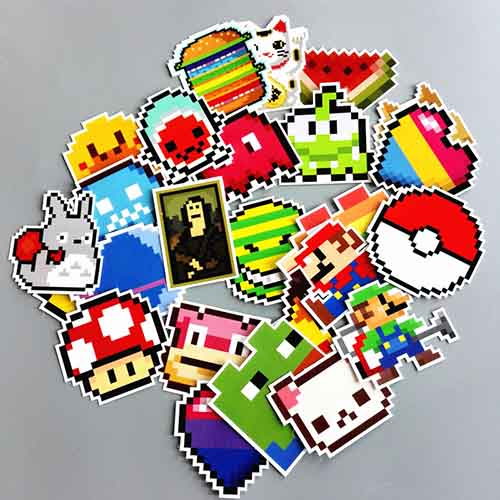 pixel pokemon vinyl stickers pack laptop decals