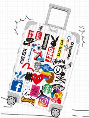 Airline Logo stickers for luggage suitcase sticker decals