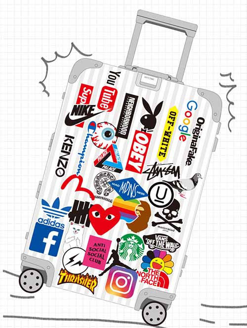Airline Logo Stickers Buy Luggage Suitcase Trunk Stickers Decals