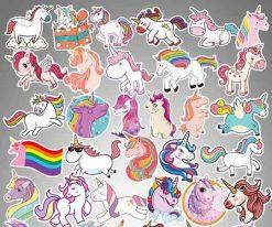 50Pcs Unicorn Vinyl Sticker Decals
