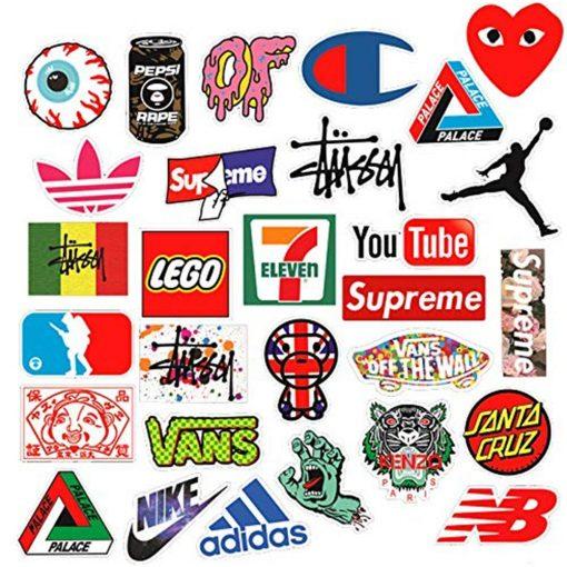 fashion brand logo mixed stickers