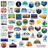 outdoor camping sticker