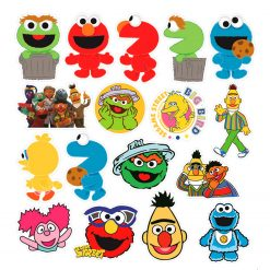 50pcs/pack Cartoon Sesame Street Stickers