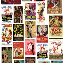 VINTAGE RETRO movie famous poster stickers