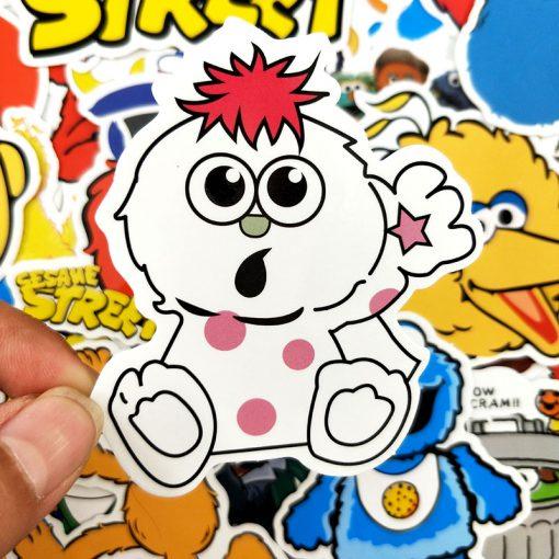 50pcs/pack Cartoon Sesame Street Stickers