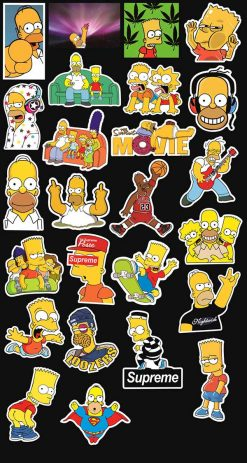 SIMPSON STICKERS