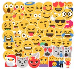 big emoji stickers 50 pieces