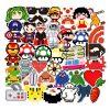 pixel cartoon game marvel stickers 50 pieces